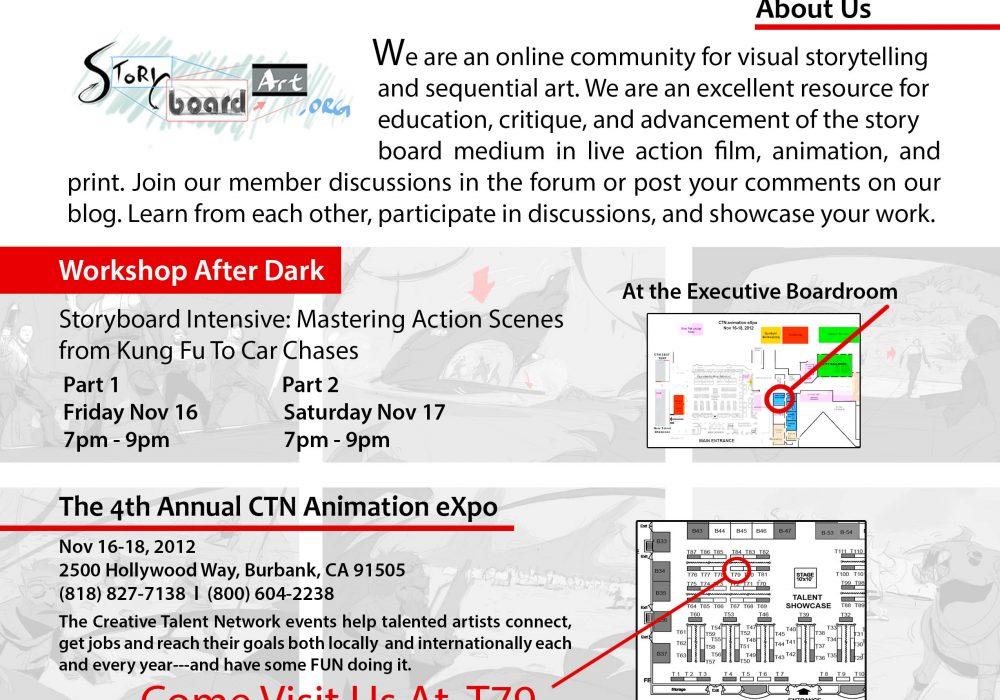 Join us at CTN 2012! After Dark 2 Day Story Workshop w/ Sergio Paez!